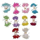 10 Stamenti di colori caldi misti 3 mm perla fiore artificiale, 1700 pezzi