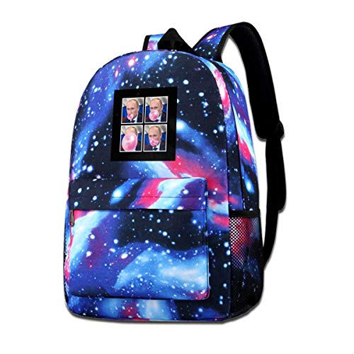 Galaxy Backpack Printed Shoulders Bag Vladimir Putin Bubblegum Fashion Casual Star Sky Backpack for Boys&Girls