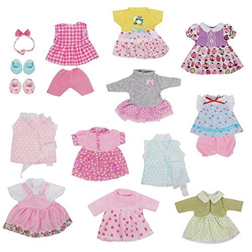 お人形遊び きせかえセット 洋服 ドレス ワンピースセット 11着 26-30cmのお人形に