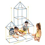 WUEAOA 100 PCS Fort Building Kit for Kids, Upgraded Ultimate Fort Builder STEM Construction Toy Gift for Boys Girls DIY to Make Play Tent Tunnel Castel Indoor Outdoor