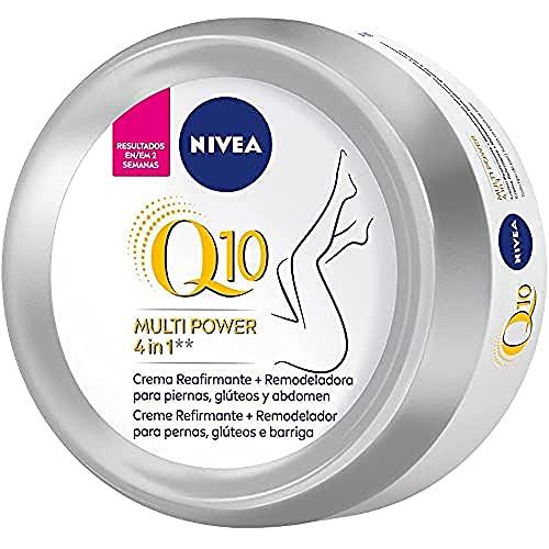 NIVEA Q10 Multi Power 4in1 Crema Reafirmante + Remodeladora (1 x 300 ml), crema corporal reafirmante con coenzima Q10, crema hidratante para piernas, glúteos y abdomen