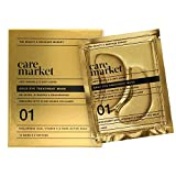 Care Market 24K Gold Under Eye Patches (12 Pairs) - Collagen, Hyaluronic Acid, Vitamin-C - Eye Treatment Depuffing Mask for Anti-Wrinkle, Anti-Aging, Reducing Dark Circles, Puffiness, Wrinkles