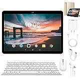 Tablette Tactile 10 Pouces, 4G Dual SIM 3Go/64Go ROM 1.5GHZ WiFi Tablette Android 8.1 Oreo avec OTG, Clavier Bluetooth, 6000mAh, Tablette Débloqué 10' Pas Cher (Or)