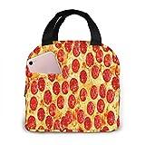 Bolsa Térmica Comida Bolsas De Almuerzo Caja Porta Con Aislamiento Organizador Del Almuerzo para Mujeres Hombres Niñas Niños Pizza Pepperoni Visita Mi Página