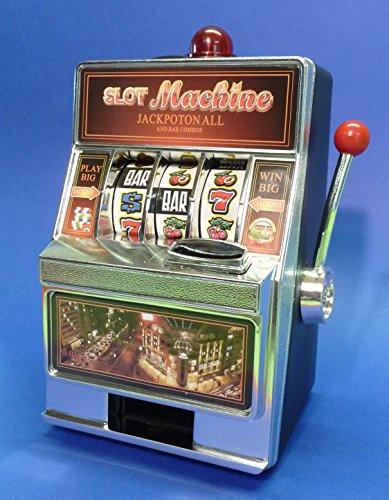 WIM-SHOP SLOTMACHINE Geld-Spielautomat in Mini-Größe mit realistischer Funktion
