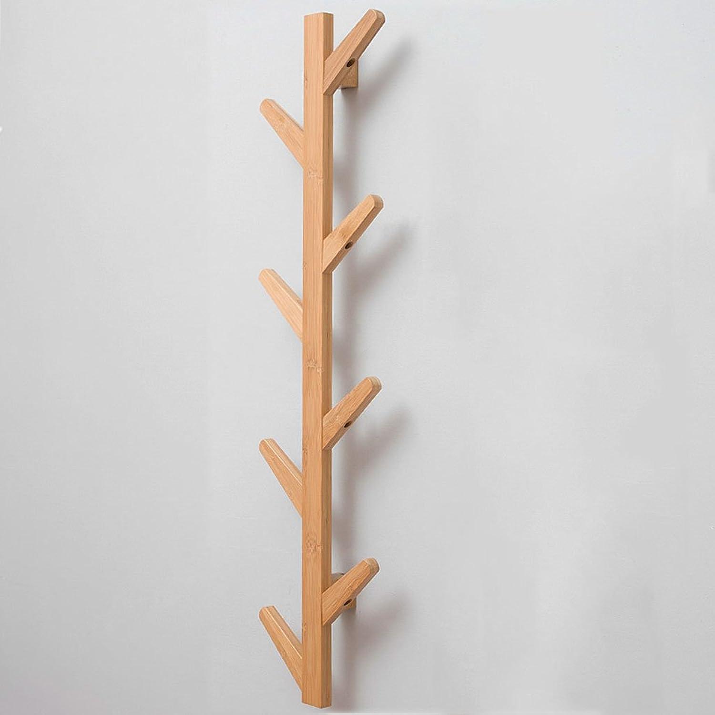 CSQ Wooden Hanger, Wall Hanging Bedroom Living Room Hanger Brewing Hook up Hanger Behind The Door Wall Hanging Bamboo Hanger Length 78-123CM (Size   7  24  98cm)