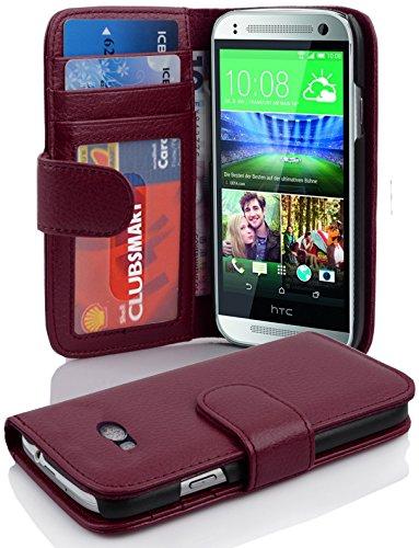 Cadorabo Coque pour HTC One M8 Mini (2.Gen.) en ORCHIDÉE Violets - Housse Protection avec Fermoire Magnétique et 3 Fentes Cartes - Portefeuille Etui Poche Folio Case Cover