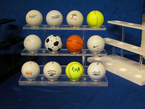 Golf Ball Display Rack - 12 Balls (Clear)
