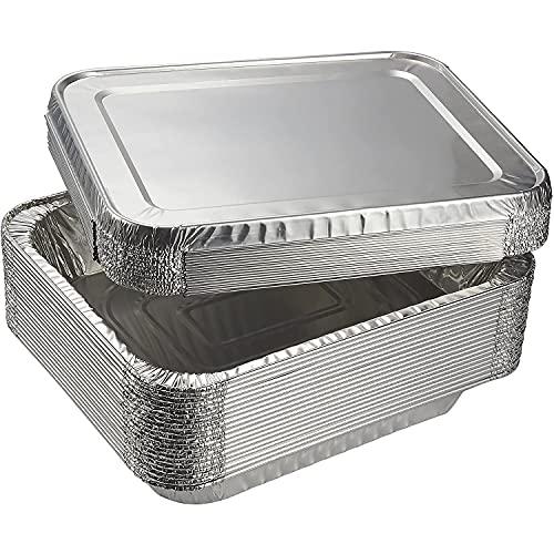 Half-Size Steam Table Aluminum Foil Pans with Lids...