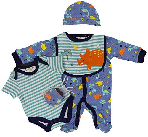 Ensemble cadeau pour bébé 5 pièces avec bonnets, bavoirs et gants inclus. - - S