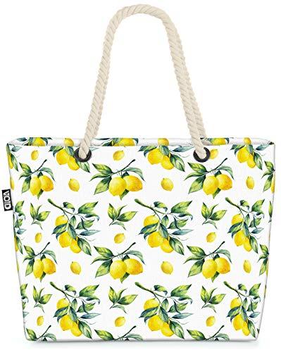 VOID Limones de Verano Bolsa de Playa 58x38x16cm 23L Shopper Bolsa de Viaje Compras Beach Bag Bolso