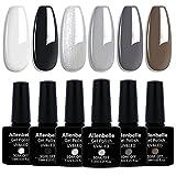 Allenbelle Smalto Semipermante Per Unghie Kit In Gel Uv Led Smalti Semipermanenti Per Unghie Nail Polish UV LED Gel Unghie(Kit di 6 pcs 7.3ML/pc) (007)