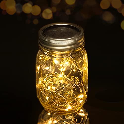 Aotlet lampara solar exterior luz solar jardin bombilla led solar luz solar exterior foco led exterior luces solares led exterior Y lamparas mesilla de noche calendario de adviento navidad decoración