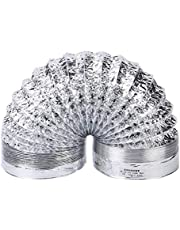 Fenteer Afvoerslang 150 mm / 100 mm, airco slang flexibele aluminium buisslang rond ventilatiebuiskanaal - 150 mm x 3 m