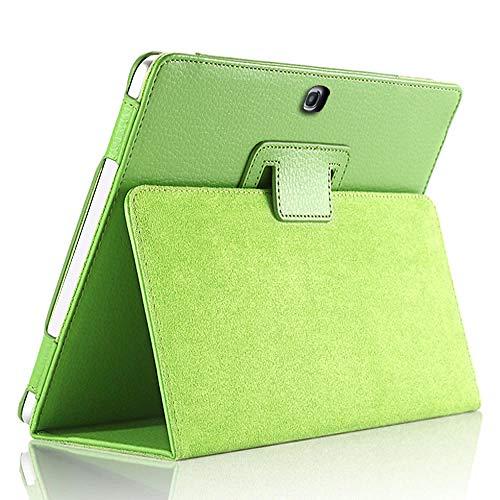 Hoesje voor Samsung Galaxy Tab 4 10.1inch SM-T530 T535 T533 Tab4 10 T530 T531 T535 Tablet Case Beugel flip PU Lederen Cover T530 T531 T535 groen