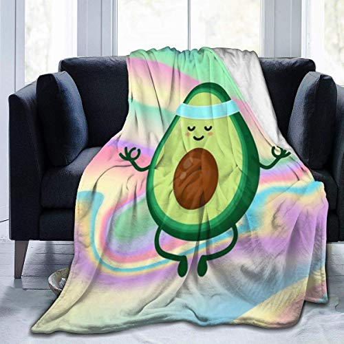 Avocado Throw Blanket.Cute Cartoon Food Fruit Blankets, Lightweight Ultra-Soft Micro Fleece for Couch Cover Home Decor .60'x50'
