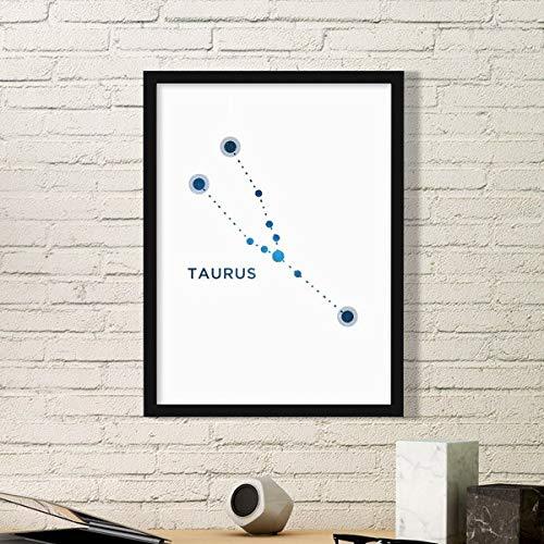 DIYthinker Stier sterrenbeeld sterrenbeeld sterrenbeeld Zodiac Eenvoudige fotolijst Kunst Prints Schilderijen Thuis Muursticker Gift