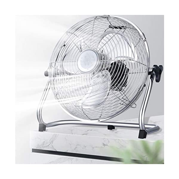 Ventiladores-Carga-Enfriamiento-De-Gran-Viento-Porttil-Silencioso-De-12-Pulgadas-Escritorio-Regalo-Color-Gold-Size-42-44-20cm