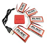 sea jump 3.7V 1200mAh Lipo Battery 25C (5PCS) + 5 in 1 Batteries Charger for SYMA X5SW X5SC X5S RC Quadcopter Drone Replacement