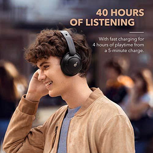 Soundcore Life Q30 Auriculares Inalámbricos Bluetooth Diadema de Anker, Cascos Inalámbricos Bluetooth, Auriculares Cancelación de Ruido Activa Híbrida, Hi-Fi Sonido, 40 h, EQ en App, Modos Varios