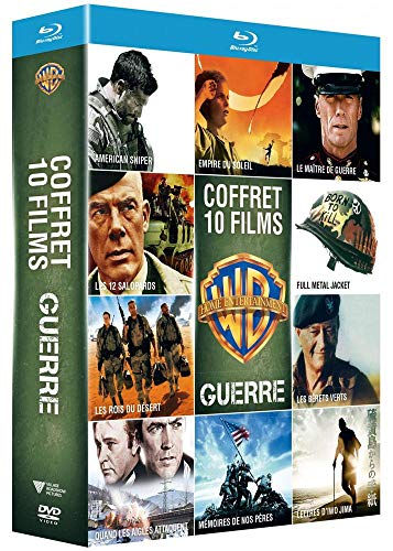 Collection de 10 films de guerre Warner - Coffret Blu-Ray
