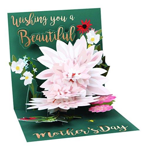 Bis mit Papier POP-UP Treasures Mutter 's Day Grußkarte–Schöne Wishes
