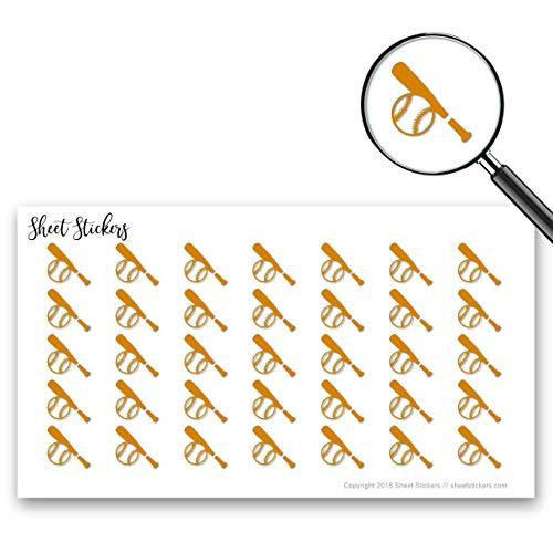 棒球球棒棒球手套游戏球棒,贴纸纸77个小子弹贴纸为日志计划剪贴簿,Bujo和工艺品,项目342819