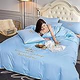 Bedding-LZ Juegos de sábanas Infantiles 105,Ropa de Cama de Cuatro Piezas de Lavado de Agua-mi_1,5 m la Cama (4 Piezas)