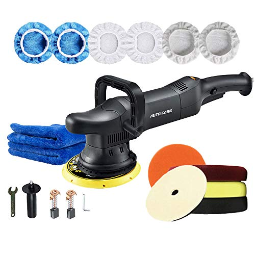 AutoCare 6-Inch 700W Car Polishing Machine DA 21mm Orbit Dual Action Auto Polisher Variable Speed Sander Buffing Waxing Machine With Buffing Tool Set