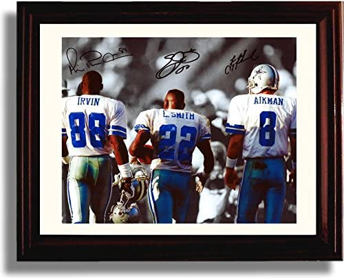 Framed Big Industry No. 1 3 Autograph Replica Print - Irvin Emmit Smit low-pricing Michael