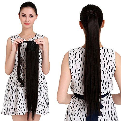 """18"""" Cabello humano Extensión coleta recta Wrap Ponytail Hairpiece 100g), varios colores"""