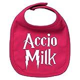 Babero de bebé Accio milk (Harry Potter - parodia - tributo - hechizo). Regalo...
