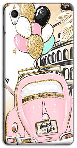 Mixroom - Cover Custodia Case in TPU Silicone Morbida per ASUS Zenfone Live L1 ZA550kl 5.5' Fantasia 500 Rosa con Palloncini M737