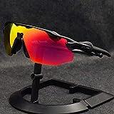 NSGJUYT 5 Lentes EV Gafas de Sol polarizadas Ciclismo anteojos de Pesca a Prueba de Viento de la Bicicleta UV400 polarizado de los Ojos (Color : Sunglasses 2)