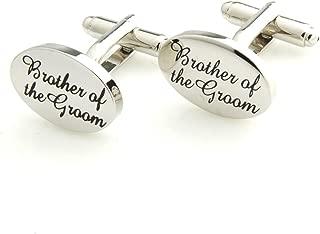 The Smart Man Men's Silver Printing Wedding Cufflinks