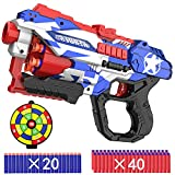 okk Blaster Toy for Boys, Portable Toy Blaster with 60 PCS Refill Soft Foam Darts and Portable...