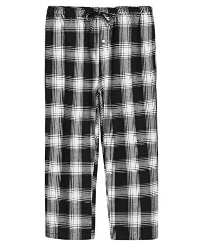 Latuza Men's Cotton Pajama Set Plaid Woven Sleepwear