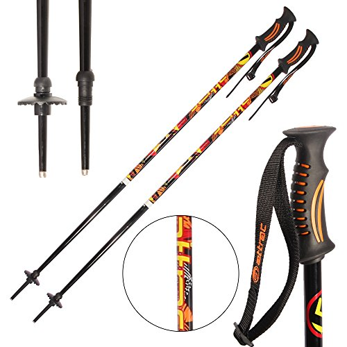 ATTRAC Skistöcke inkl. Schneeteller I Skistock Aluminium in verschiedenen Längen I Aluminiumschaft 18 mm (105 cm)