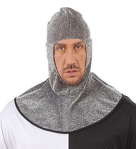 shoperama Capucha medieval con aspecto de cadena para caballero, gorro medieval, accesorio para disfraz