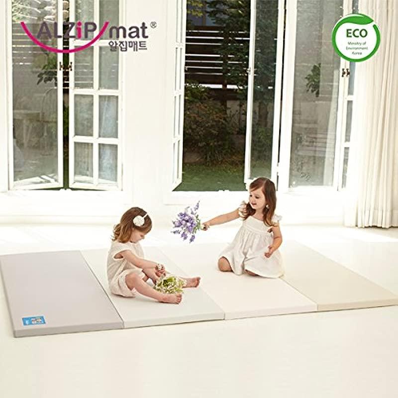 Alzip New Eco Mat Folding Non Toxic Reversible SG Playmat Modern Gray Color 240x140x4cm