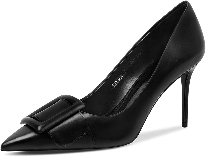 Damen Spitz Pfennigabsatz High Heels, Moderne Stiletto Schuhe sexy Pumps Elegante Bequeme Stilettos Stckelschuhe,Abendschuhe Sandaletten,schwarz,38