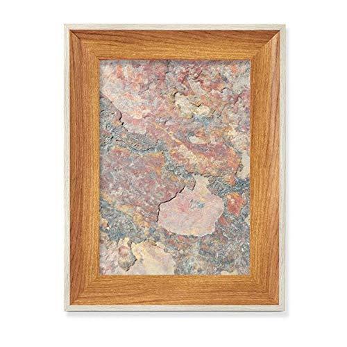 Rusty áspero textura de hierro óxido de escritorio marco de fotos de madera de exhibición cuadro arte pintura múltiples conjuntos