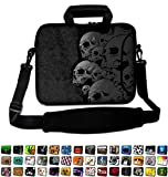 Funky Planet 15' 15.6' inch Shoulder Laptop Sleeve Case Bag Compatible with Apple MacBook air pro Dell Lenovo Samsung Asus Computer Tablet or Ipad