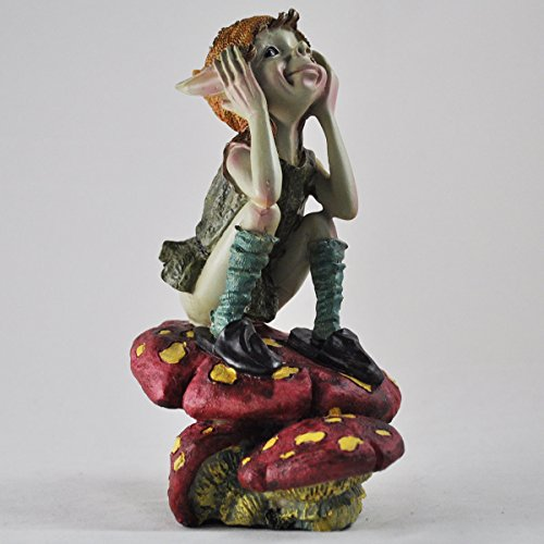 Pensée Pixie sur Champignon – Vert Jardin Home Decor Figurine cadeau fun – – Anthony Fisher