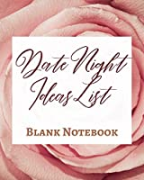 Date Night Ideas List - Blank Notebook - Write It Down - Pastel Rose Gold Pink - Abstract Modern Contemporary Unique