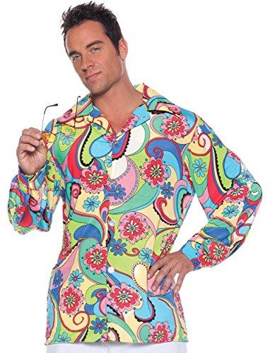 Men's Retro Hippie Disco Costume - 60's Shirt