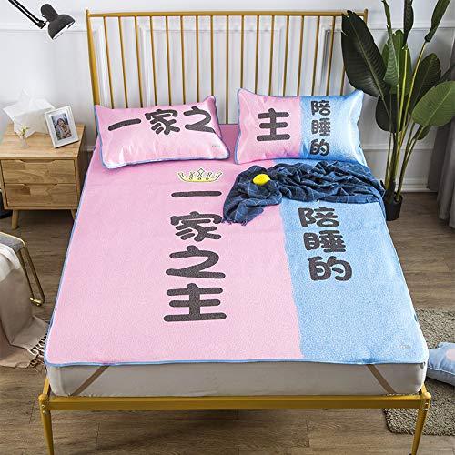Hllhpc Opvouwbaar tapijt voor slaapzaal, in een bed voor kinderen, van zijde en ijs