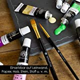 OfficeTree Acrylfarben Set 26 Tuben à 12 ml – Auf Wasserbasis – Acrylic Paint für Acrylmalerei – Für Papier, Leinwand, Holz, Stein UVM - 7