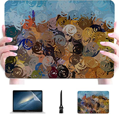 Mac Book Pro Covers Murals Color Colors Polychrome Stain Stains Slick Plastic Hard Shell Compatible Mac Air 13' Pro 13'/16' Mac Air Laptop Case Protective Cover for MacBook 2016-2020 Version