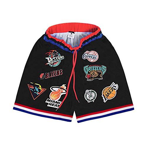 EWSDF Pantalones Cortos Deportivos para Hombre, Pantalones Cortos Transpirables de Malla, chándal Corto de Moda de Verano para Adolescentes y niños pequeños XL